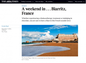 Weekend in Biarritz
